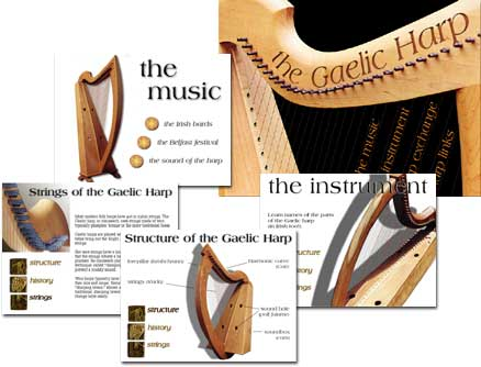 Tower Studios harp website